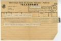 Telegrama da família Freitas a José de Almada Negreiros