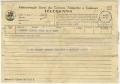 Telegrama de António Lopes para José de Almada Negreiros