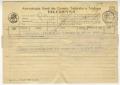 Telegrama de Alberto de Serpa a José de Almada Negreiros